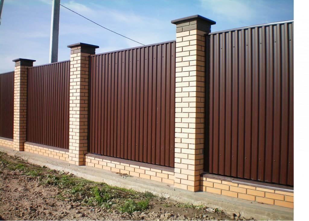забор из профнастила в спб фото
