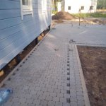 Укладка тротуарной плитки п. Приветино фото 13