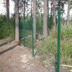 Забор сетка гиттер с въездной группой фото 3