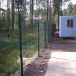 Забор сетка гиттер с въездной группой фото 5