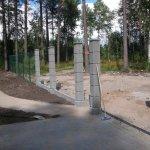 Забор сетка гиттер с въездной группой фото 6