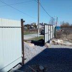 установка забора из профлиста в п. Усть-Ижора фото 5