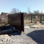 установка забора из профлиста в п. Усть-Ижора фото 7