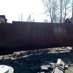 установка забора из профлиста в п. Усть-Ижора фото 8