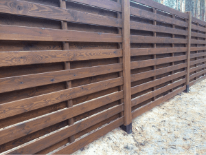 забор из дерева лучший двор