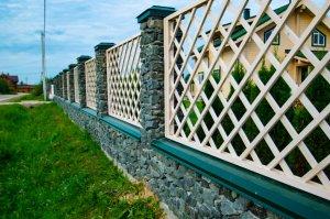 комбинированный забор лучший двор