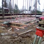Установка и заливка ленточного фундамента в п. Васкелово фото 13