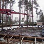 Установка и заливка ленточного фундамента в п. Васкелово фото 23
