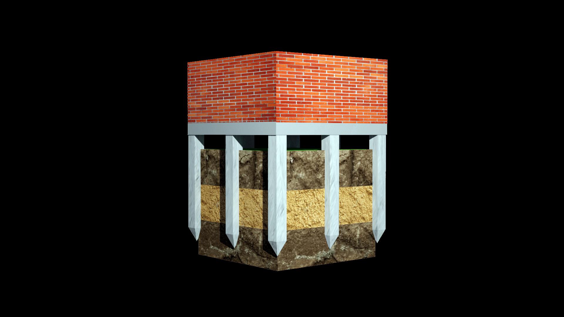 свайный фундамент для кирпичного дома фото