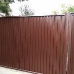 забор из профнастила фото 10
