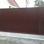 забор из профнастила фото 12