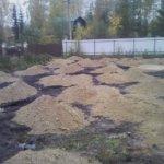 Отсыпка и выравнивание участка под газон Вырица фото 2
