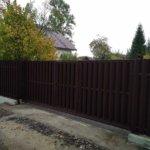 Забор из евроштакетника Горелово фото 5