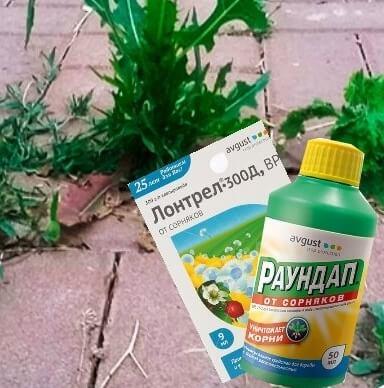 гербициды для удаления травы между плиткой фото